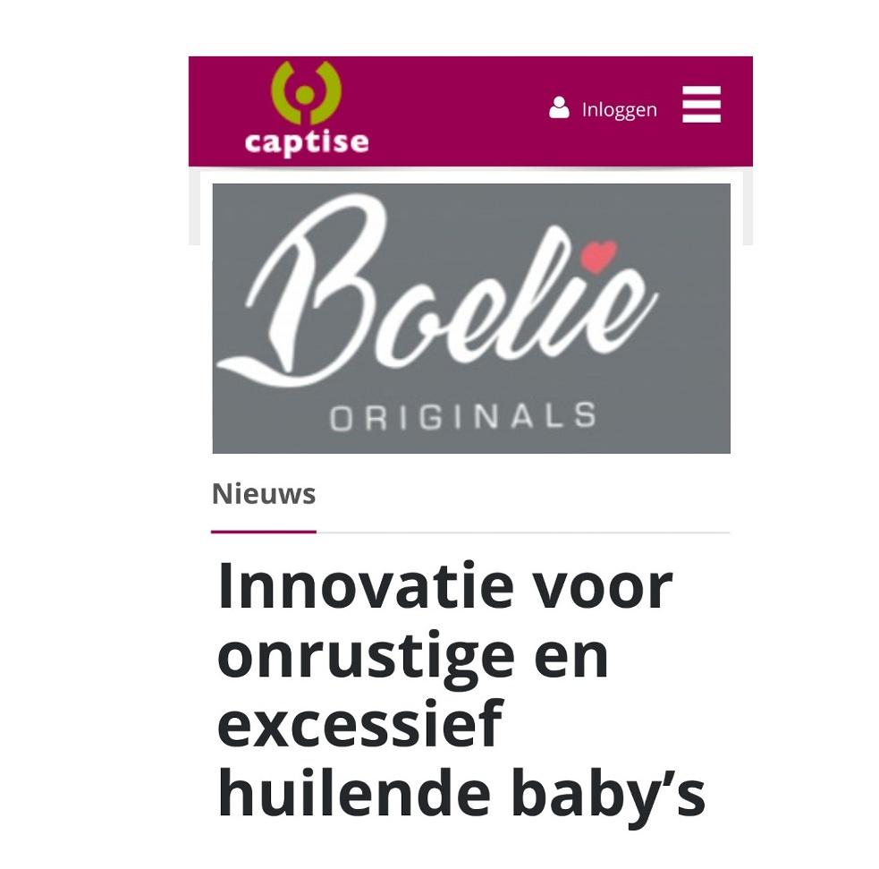 Inbakeren   Captise ; Innovatie voor onrustige en excessief huilende baby's.